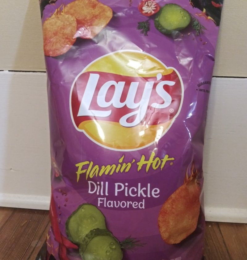 Flamin' hot dill pickle flavor